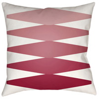 Surya MD015-2222 Moderne 22 X 22 inch Red and Pink Outdoor Throw Pillow photo thumbnail