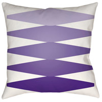 Surya MD016-1818 Moderne 18 X 18 inch Purple and Purple Outdoor Throw Pillow photo thumbnail