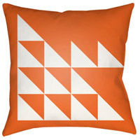 Surya MD025-2020 Moderne 20 X 20 inch Orange and White Outdoor Throw Pillow photo thumbnail