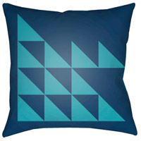 Surya MD029-1818 Moderne 18 X 18 inch Navy and Blue Outdoor Throw Pillow photo thumbnail