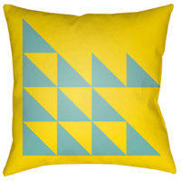 Surya MD030-2020 Moderne 20 X 20 inch Yellow and Blue Outdoor Throw Pillow alternative photo thumbnail