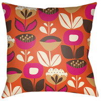 Surya MD034-2020 Moderne 20 X 20 inch Orange and White Outdoor Throw Pillow photo thumbnail