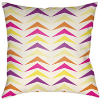 Surya MD057-2222 Moderne 22 X 22 inch Pink and White Outdoor Throw Pillow photo thumbnail