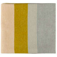Surya MDW1003-5070 Meadowlark 70 X 50 inch Yellow and Tan Throw