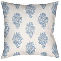 Surya MF009-2222 Moody Floral 22 X 22 inch White and Bright Blue Outdoor Throw Pillow photo thumbnail
