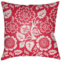 Surya MF020-2222 Moody Floral 22 X 22 inch Bright Pink and White Outdoor Throw Pillow photo thumbnail