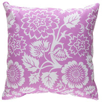 Moody Floral 20 X 20 inch White and Purple Outdoor Throw Pillow