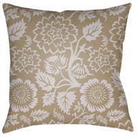 Moody Floral 20 X 20 inch Tan and Purple Outdoor Throw Pillow