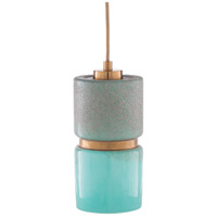 Madigan 1 Light 6 inch Green and Bronze Pendant Ceiling Light