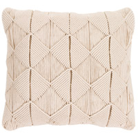 Surya MGR003-1818D Migramah 18 X 18 inch Cream Pillow Kit, Square photo thumbnail