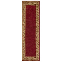 Surya MID4740-2276 Midtown 89 X 26 inch Dark Red/Wheat/Camel/Sage Rugs, Olefin photo thumbnail