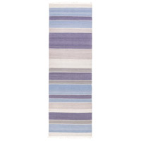 Surya MIG5004-268 Miguel 96 X 30 inch Blue and Blue Runner, Wool and Cotton photo thumbnail