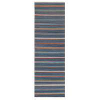 Surya MIG5010-268 Miguel 96 X 30 inch Blue and Red Runner, Wool and Cotton photo thumbnail