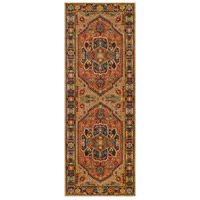Masala Market 87 X 31 inch Brown and Brown Runner, Polypropylene