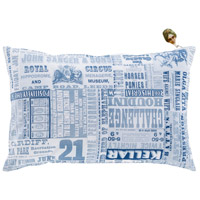 Surya MNG004-1320P Mind Games 19 X 13 inch Navy and Denim Lumbar Pillow photo thumbnail