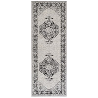 Surya MOC2329-2773 Monaco 87 X 31 inch Black/Cream/Silver Gray/Medium Gray Rugs photo thumbnail