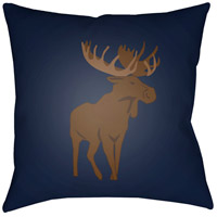 Surya MOO005-1818 Moose 18 X 18 inch Blue and Brown Outdoor Throw Pillow photo thumbnail
