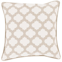 Surya MPL007-1818 Moroccan Printed Lattice 18 X 18 inch White and Brown Pillow Cover photo thumbnail