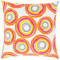 Surya MRA004-1818P Miranda 18 X 18 inch Bright Yellow and Bright Orange Throw Pillow photo thumbnail