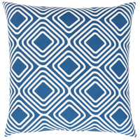 Surya MRA009-1818P Miranda 18 X 18 inch Dark Blue and White Throw Pillow photo thumbnail