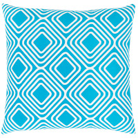 Surya MRA010-1818 Miranda 18 X 18 inch Blue and White Pillow Cover photo thumbnail