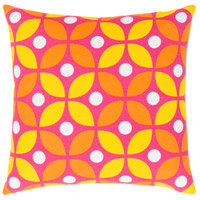 Surya MRA014-1818D Miranda 18 X 18 inch Bright Yellow and Bright Orange Throw Pillow alternative photo thumbnail