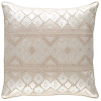 Surya MRW001-1818P Morowa 18 X 18 inch Khaki and Cream Pillow photo thumbnail