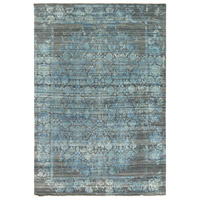Masha 108 X 72 inch Blue and Gray Area Rug, Wool and Silk