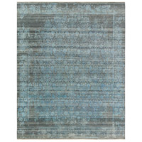 Masha 120 X 96 inch Blue and Gray Area Rug, Wool and Silk