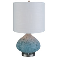 Surya MSS-001 Massey 24 inch 100 watt Bright Blue Table Lamp Portable Light