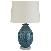 Surya MSY-001 Maisy 25 inch 100 watt Bright Blue Table Lamp Portable Light