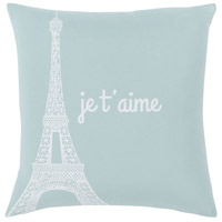 Surya MTT007-1818 Motto 18 X 18 inch Ice Blue Pillow Cover, Square