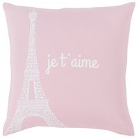 Surya MTT009-2222 Motto 22 X 22 inch Blush/White Pillow Cover, Square photo thumbnail