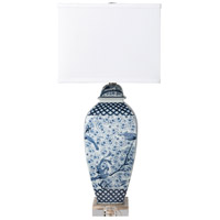 Surya Blue Linen Table Lamps