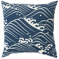 Surya MZ002-2020 Mizu 20 X 20 inch Navy and Off-White Outdoor Throw Pillow photo thumbnail