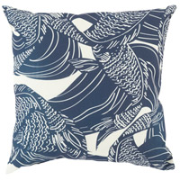 Surya MZ004-2020 Mizu 20 X 20 inch Navy and Off-White Outdoor Throw Pillow photo thumbnail