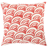 Surya MZ009-1818 Mizu 18 X 18 inch Red and Off-White Outdoor Throw Pillow photo thumbnail