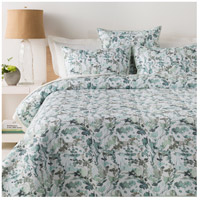 Naida 108 X 92 inch White and Blue Quilt Set in King/CA King, King or CA King