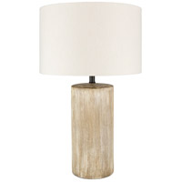 Surya Khaki Linen Table Lamps