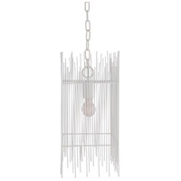 Surya NTH-001 Natasha 1 Light 9 inch White Pendant Ceiling Light
