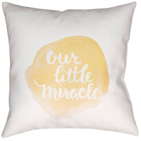 Surya NUR010-2020 Miracle 20 X 20 inch Yellow and White Outdoor Throw Pillow photo thumbnail