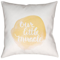 Surya NUR010-2020 Miracle 20 X 20 inch Yellow and White Outdoor Throw Pillow alternative photo thumbnail