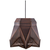 Surya NVR-003 Novara 1 Light 14 inch Dark Brown Pendant Ceiling Light
