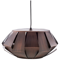 Surya NVR-004 Novara 1 Light 19 inch Dark Brown Pendant Ceiling Light