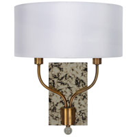 Surya OGE-001 Ogee 2 Light 5 inch White Wall Sconce Wall Light