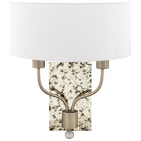 Surya OGE-002 Ogee 2 Light 5 inch White Wall Sconce Wall Light