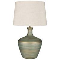 Surya OLL-001 Ollie 28 inch 100 watt Aqua/Ivory/Emerald Table Lighting Portable Light