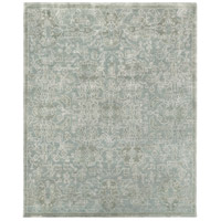 Opulent 120 X 96 inch Green and Green Area Rug, Wool, Cotton, and Viscose