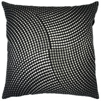 Surya P0223-2222D Midnight 22 X 22 inch Black/Metallic - Silver Pillow Kit photo thumbnail