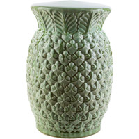 Surya PAA875-M Palm Green Stool Home Decor Cylinder Hand Crafted